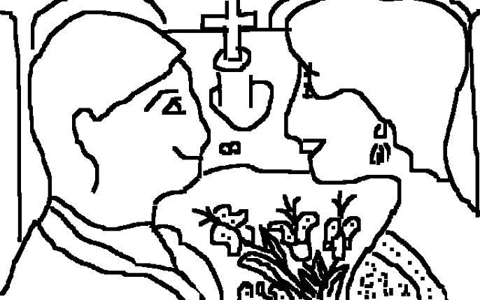 Wedding Drawing - Wedding Day by Anita Dale Livaditis