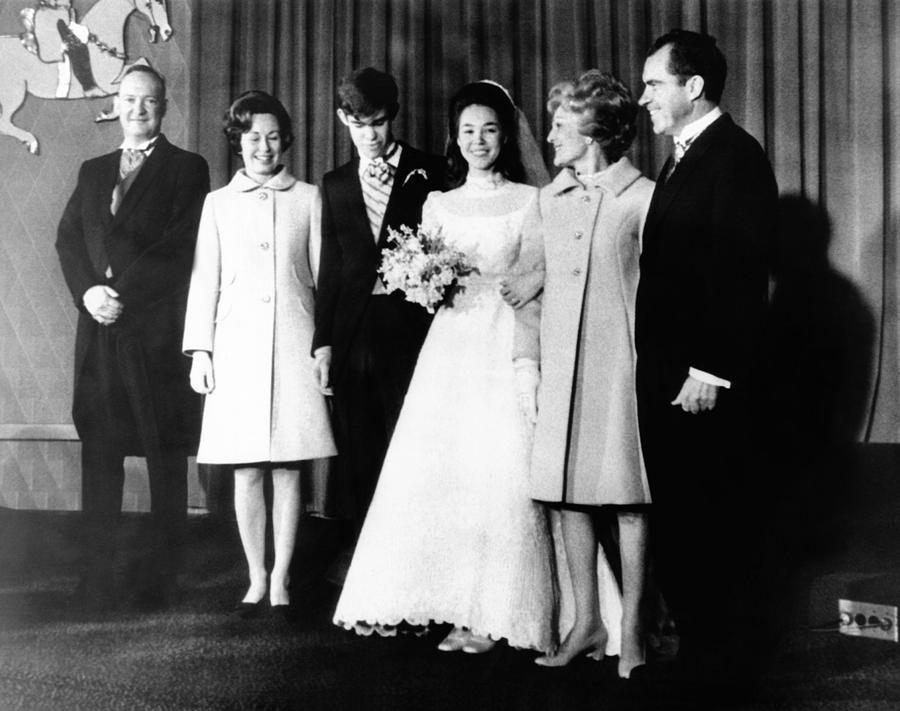 Wedding Of Julie Nixon To David Photograph By Everett