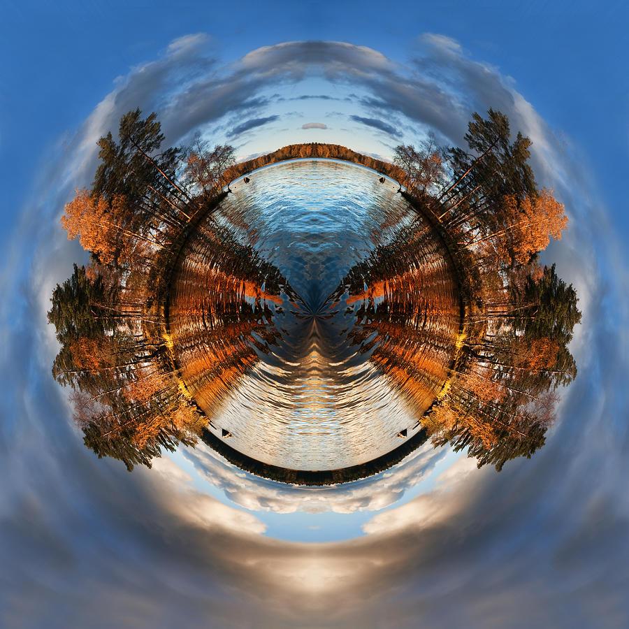 Nikki Smith Digital Art - Wee Lake Vuoksa Twin Islands by Nikki Marie Smith