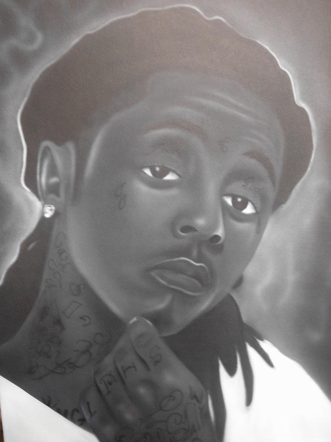 Lil Wayne Painting - Weezy by Charles Thomas