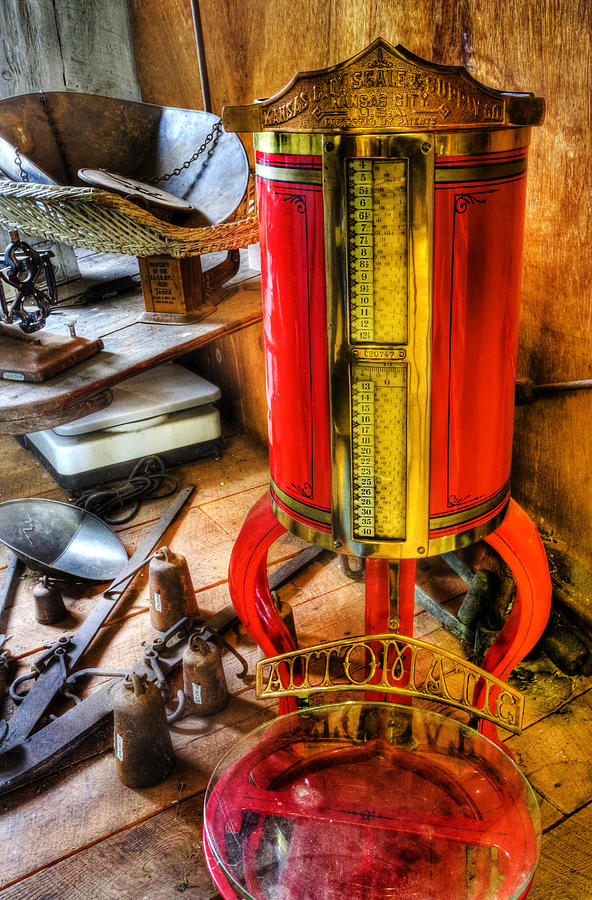 66 Photograph - Weigh Your Goods - General Store - Vintage - Nostalgia by Lee Dos Santos