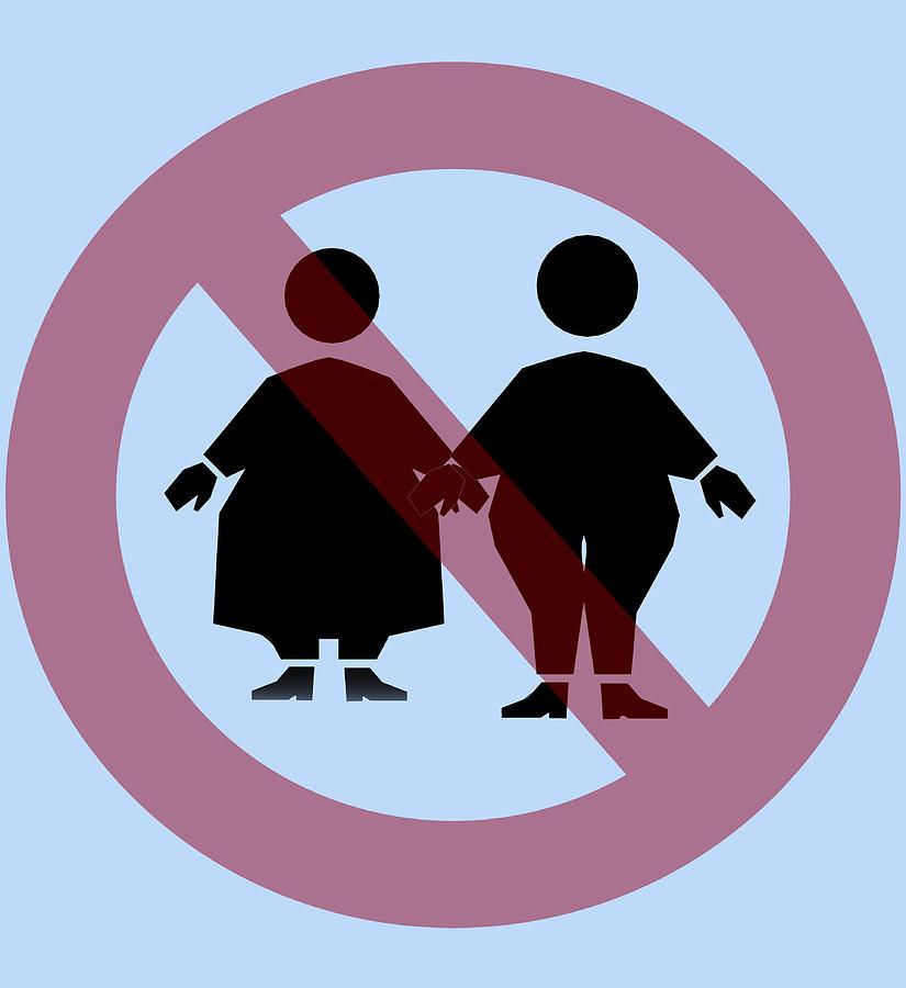 Sign Photograph - Weight Discrimination, Computer Artwork by Christian Darkin