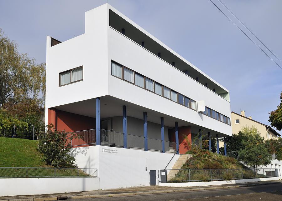 weissenhof settlement le corbusier building photograph by matthias hauser. Black Bedroom Furniture Sets. Home Design Ideas