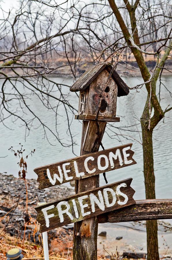 Birdhouse Photograph - Welcome Friends by Brenda Becker