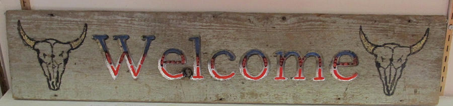 Welcome Sign Mixed Media - Welcome Sign by Dwayne  Davis
