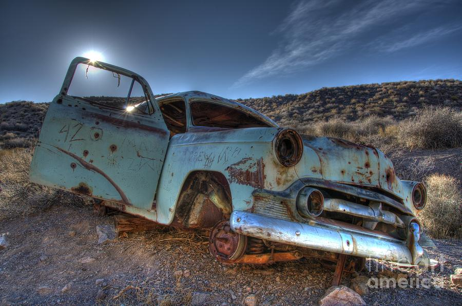 Old Cars Photograph - Welcome To Death Valley by Bob Christopher