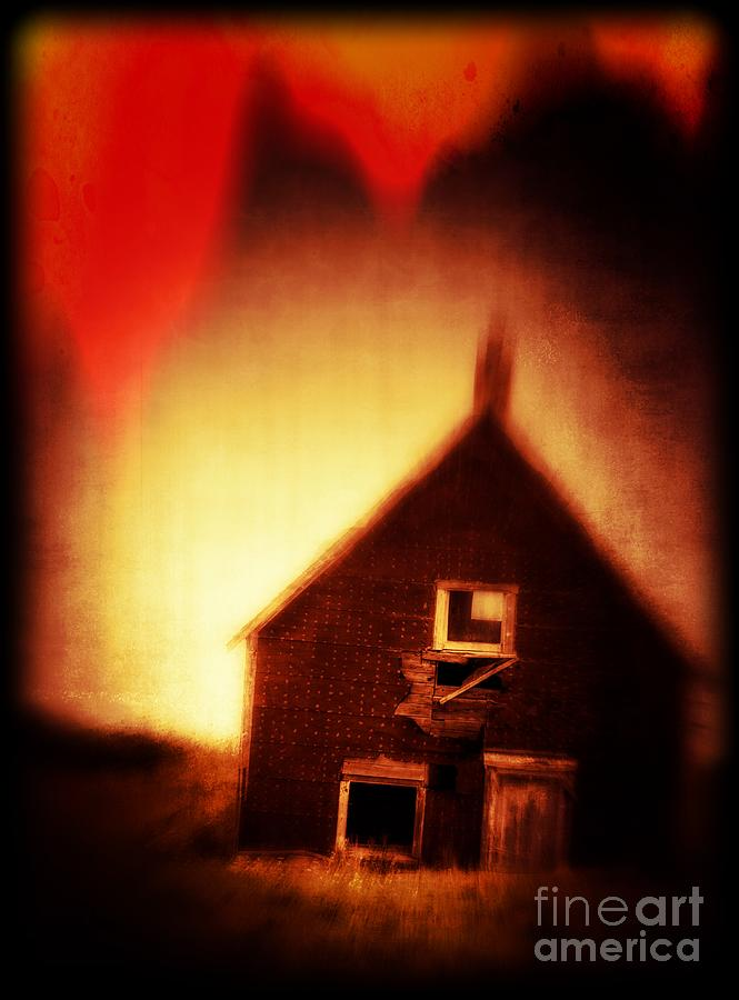 Scary Photograph - Welcome To Hell House by Edward Fielding