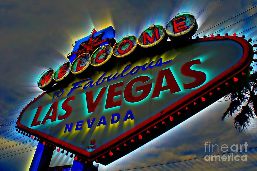 Las Vegas Photograph - Welcome To Las Vegas by Kevin Moore