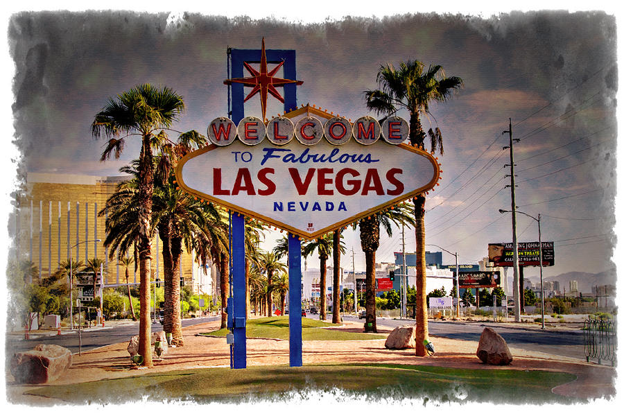Las Photograph - Welcome To Las Vegas Sign Series Impressions by Ricky Barnard