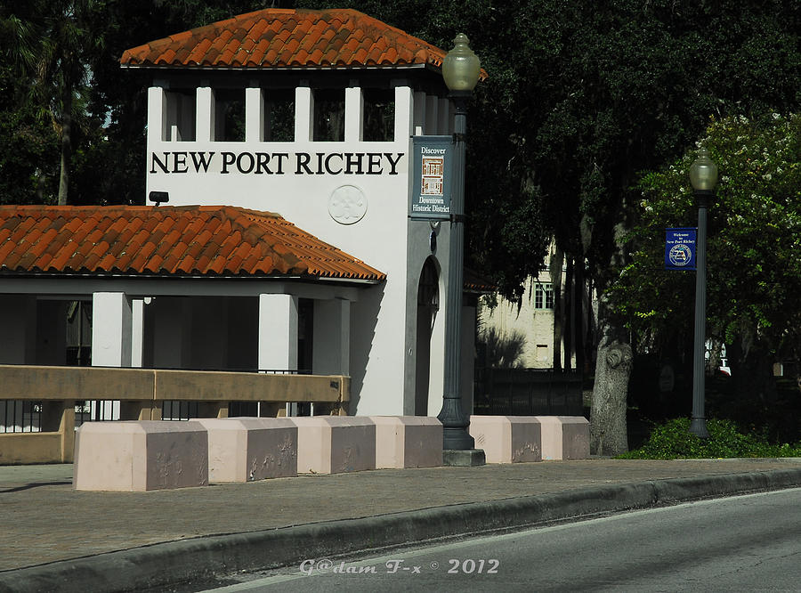Print Photograph - Welcome To New Port Richey Florida  by G Adam Orosco