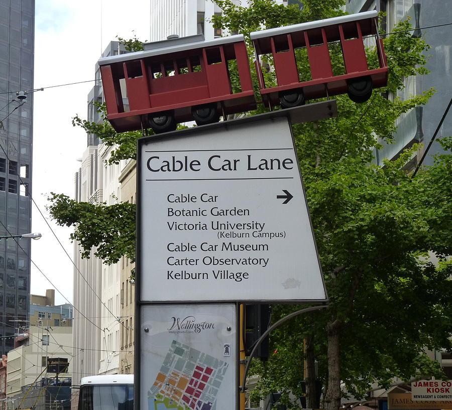 New Zealand Photograph - Wellington Cablecar by Carla Parris