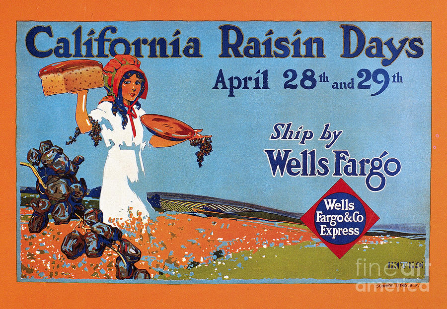 1918 Drawing - Wells Fargo Express, 1918 by Granger