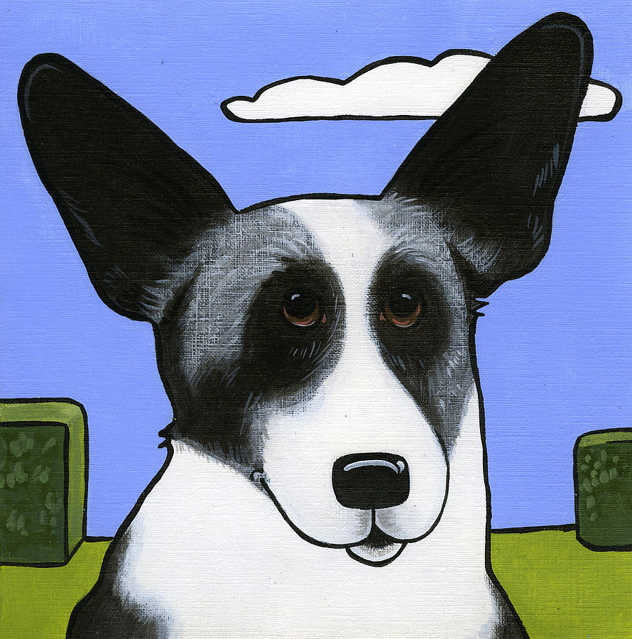Welsh Cardigan Corgi Painting - Welsh Cardigan Corgi by Leanne Wilkes