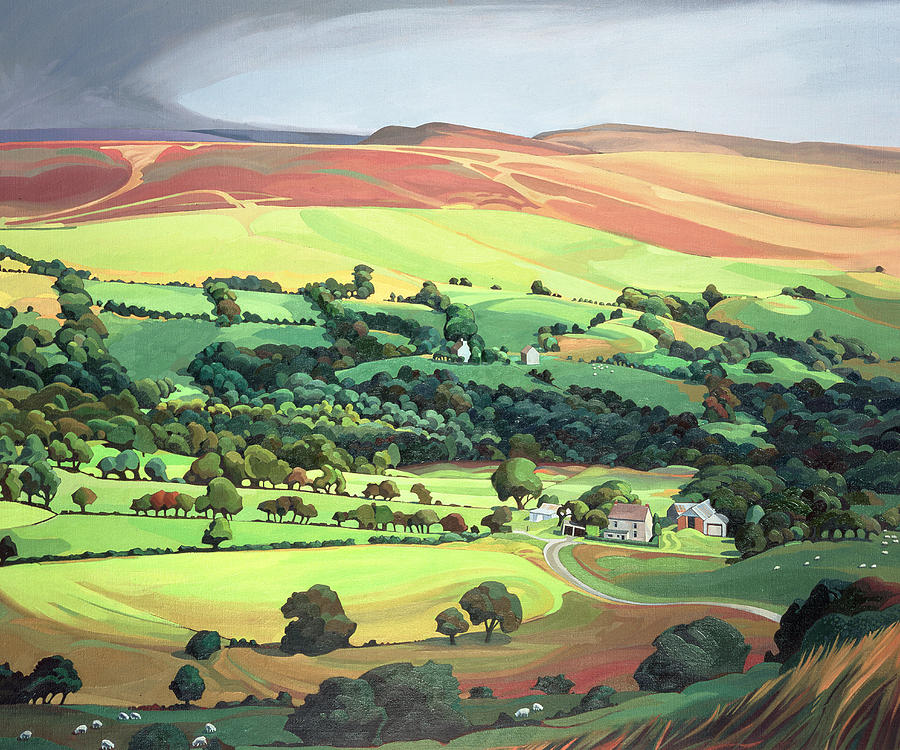 Welsh Valley Painting By Anna Teasdale