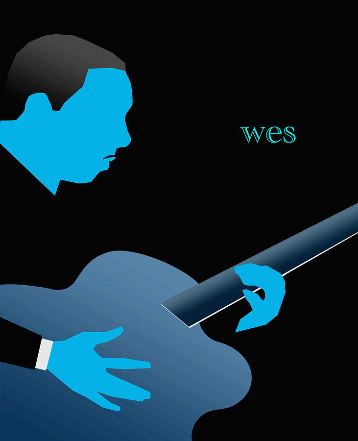 Jazz Digital Art - Wes Montgomery Blue by Victor Bailey