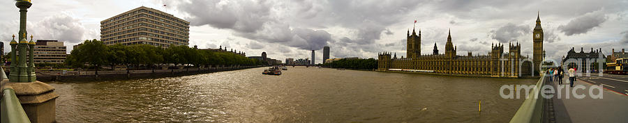 London Photograph - Wesminster Pano by Keith Sutton