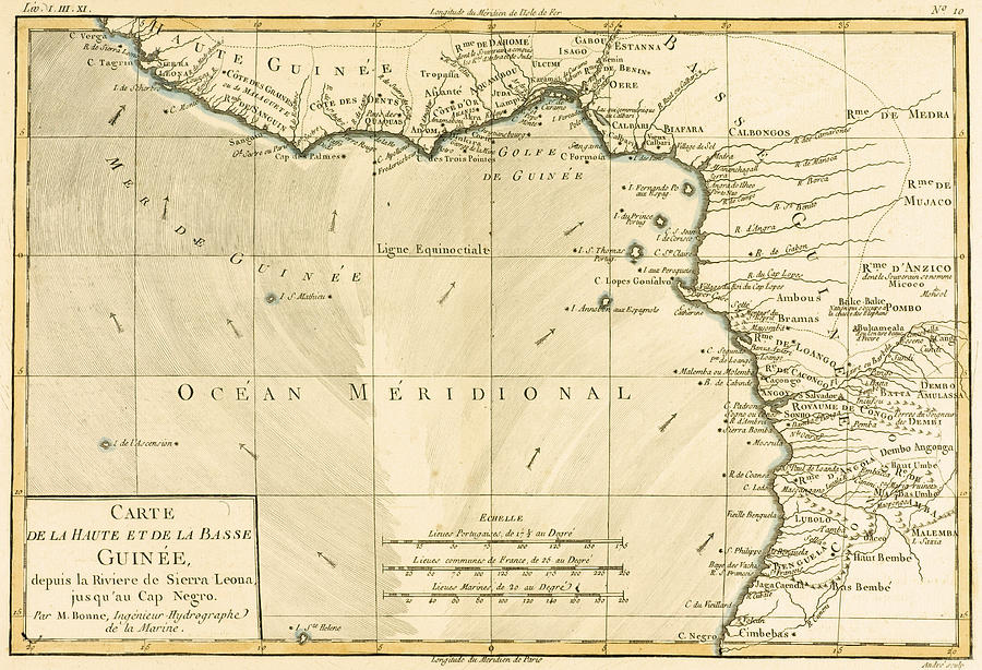 Maps Drawing - West Africa by Guillaume Raynal