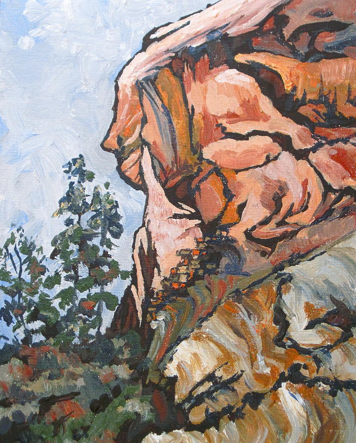 Sedona Painting - West Fork 2 by Sandy Tracey