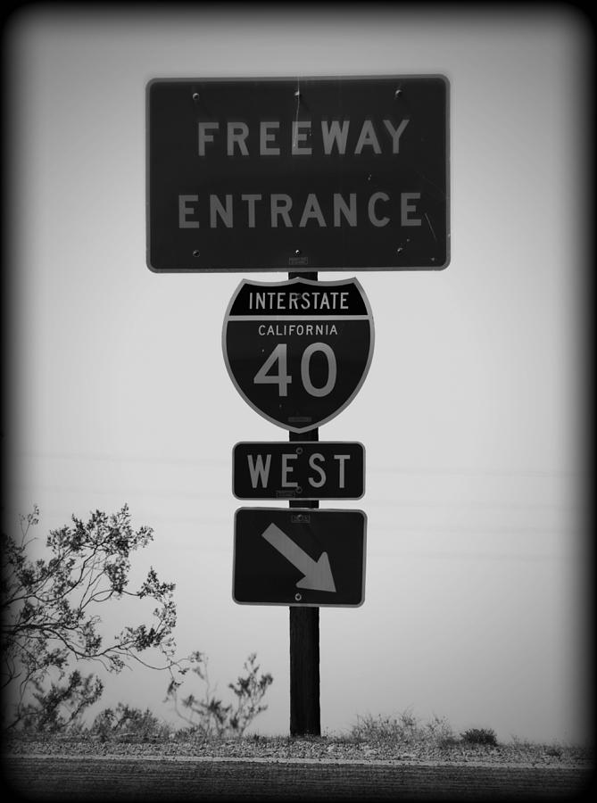 West Into California Photograph