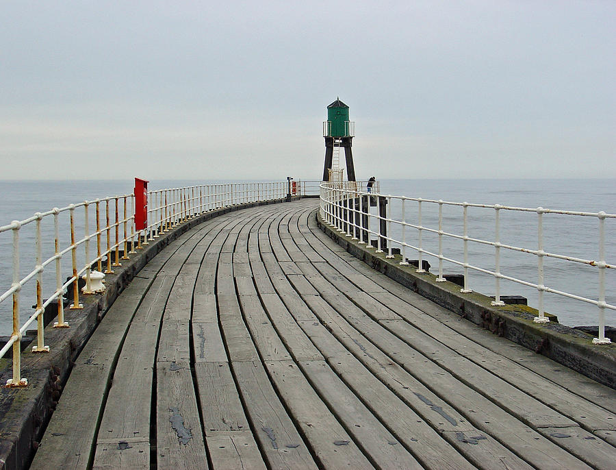 Ladder Photograph - West Pier And Beacon by Rod Johnson