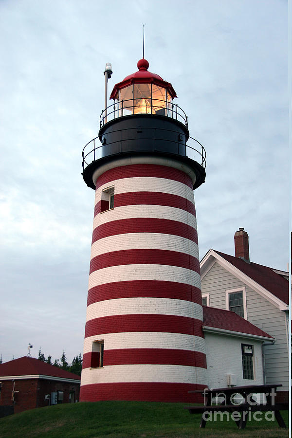 West Quoddy Head Light Photograph - West Quoddy Lighthouse by Brenda Giasson