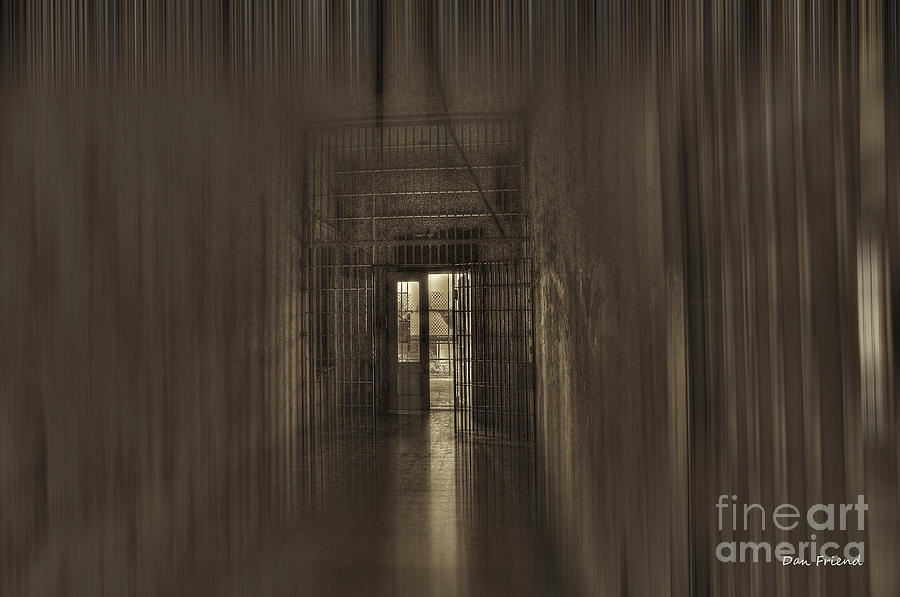West Virginia Penitentiary  Photograph - West Virginia Penitentiary Hallway Out by Dan Friend