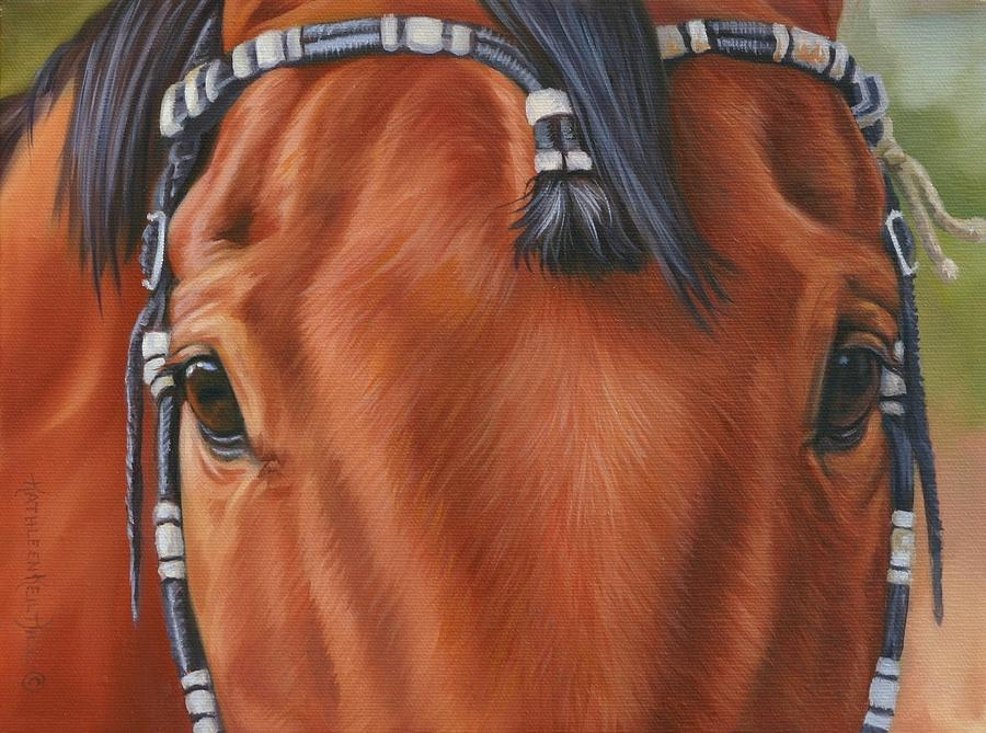 Horses Painting - Western Braids by Kathleen  Hill