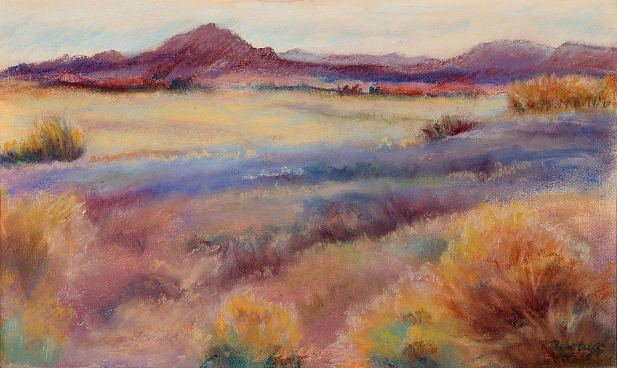 Western Painting - Western Landscape by Rita Bentley