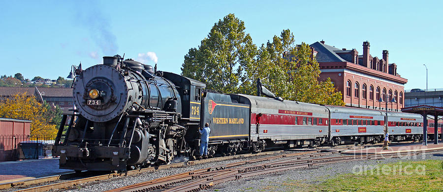 Western Maryland Steam Train At The Cumberland Depot
