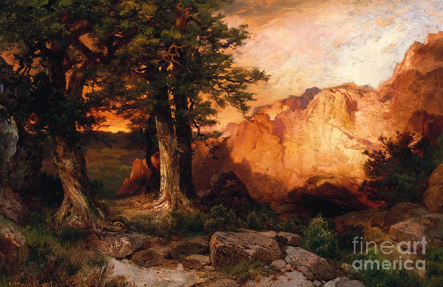 Thomas Moran Painting - Western Sunset by Thomas Moran