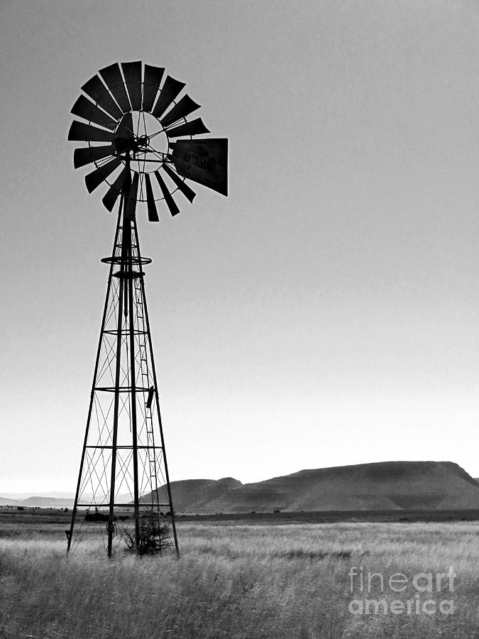 Western Windmill In Southern Africa Photograph By