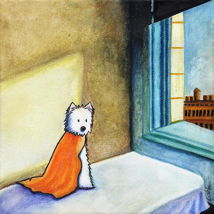 Westie Terrier Painting - Westie In Morning Sun by Kim Niles