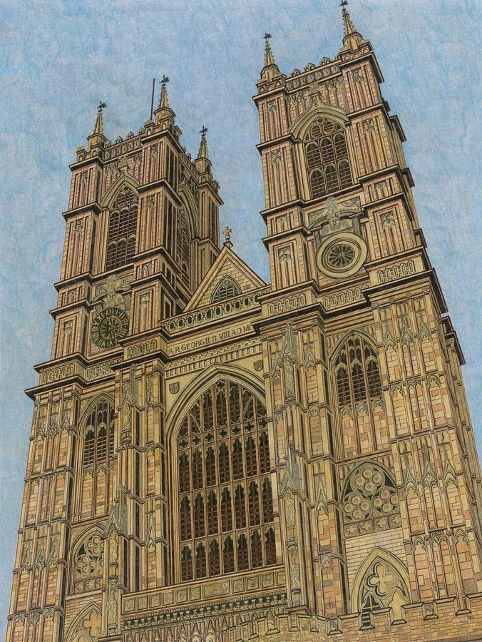 Westminster Abbey Drawing By Marc Yench