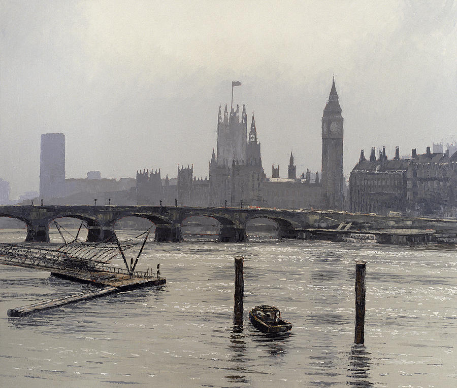 Thames Painting - Westminster by Tom Young