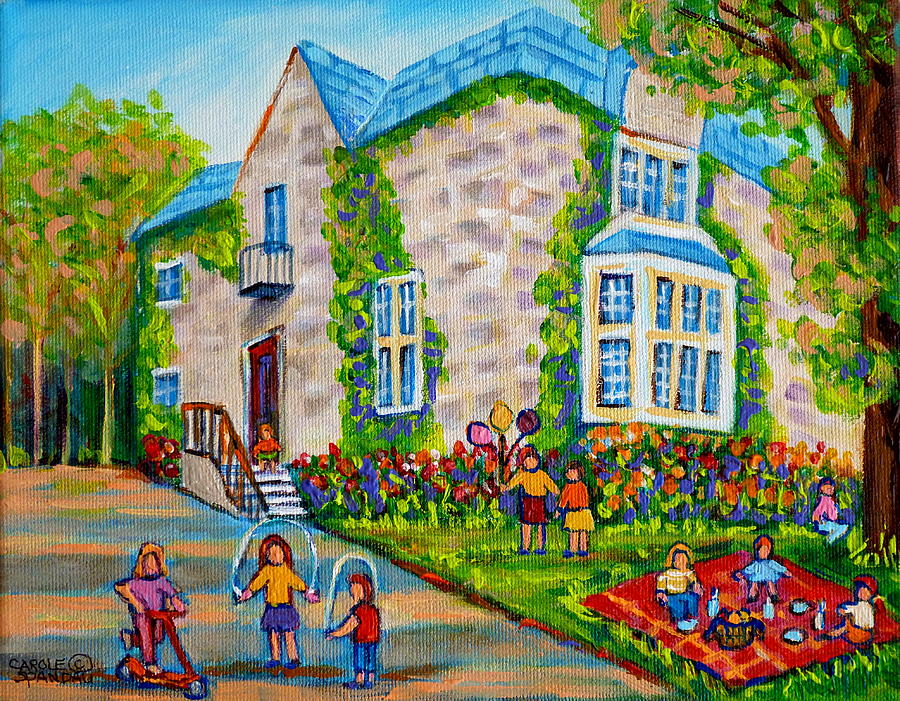 Westmount Birthday Party Montreal Urban Scene Little Girls