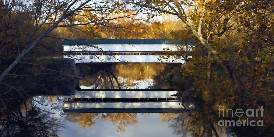 Illustration Photograph - Westport Covered Bridge - D007831a by Daniel Dempster