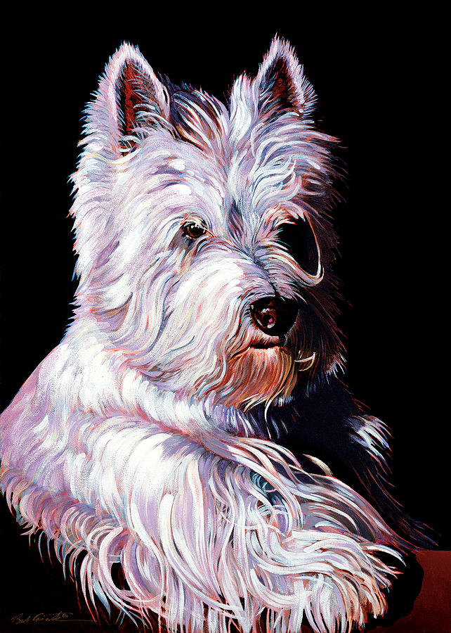 Abstract Realism Painting - Westy by Bob Coonts