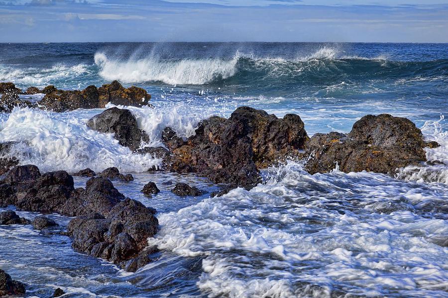 Lava Rocks Photograph - Wet Lava Rocks by Kelley King