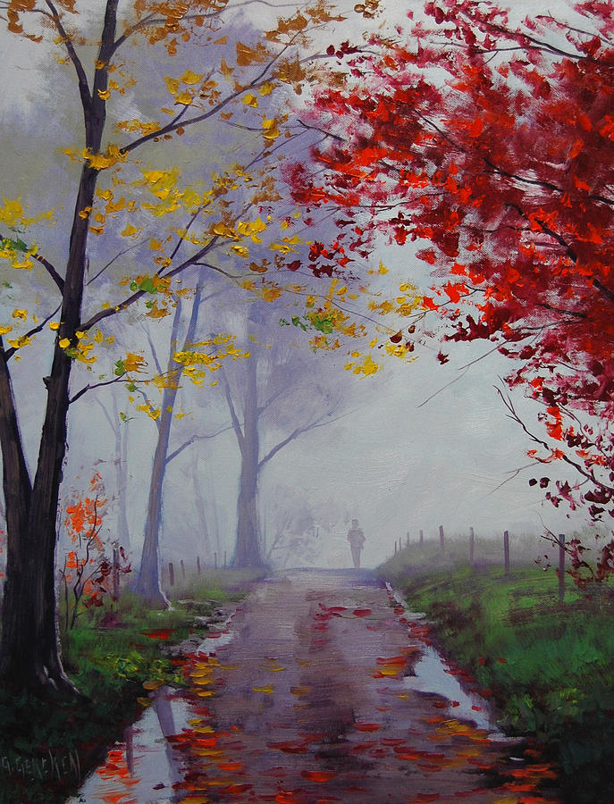 Wet Misty Day Painting By Graham Gercken