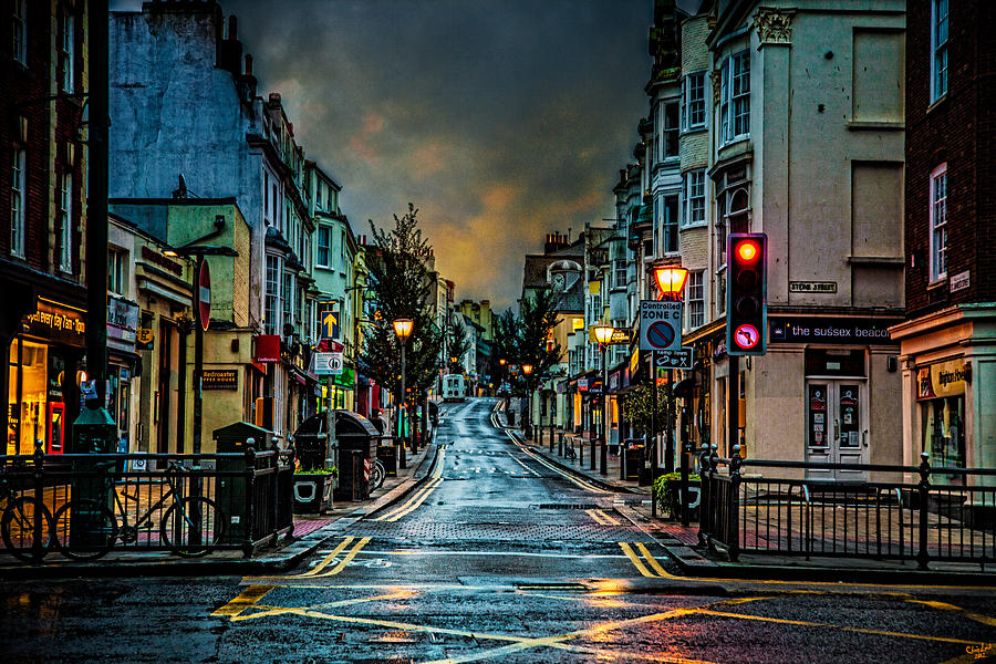 Rain Photograph - Wet Morning In Kemp Town by Chris Lord