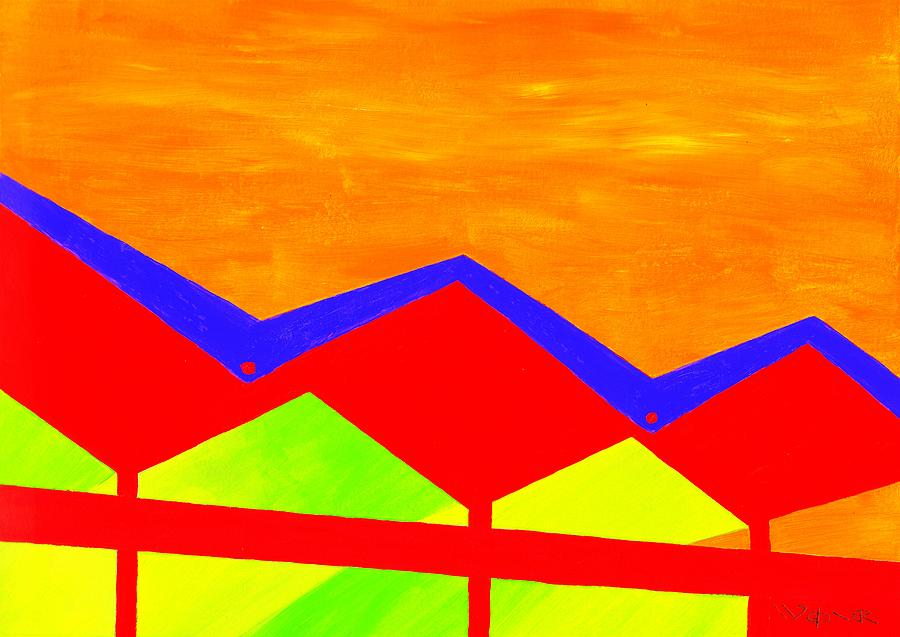 Architecture Painting - Wexler Folded Roof Four by Randall Weidner