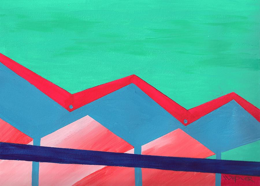 Architecture Painting - Wexler Folded Roof Seven by Randall Weidner