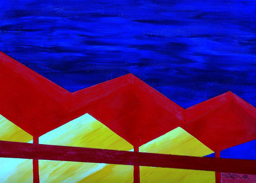 Architecture Painting - Wexler Folded Roof Six by Randall Weidner