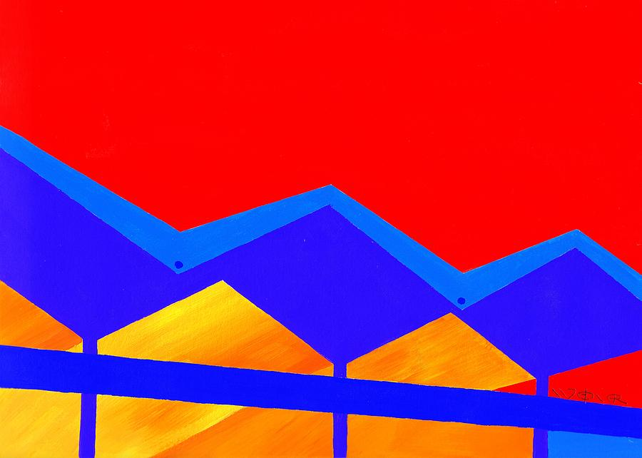 Architecture Painting - Wexler Folded Roof Two by Randall Weidner