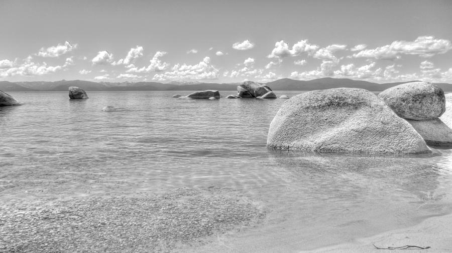 Black And White Photograph - Whale Beach Black And White by Brad Scott