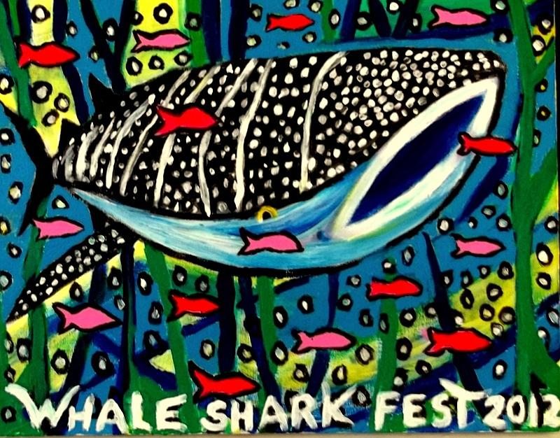 Whale Shark Season On Isla Painting by Ted Hebbler