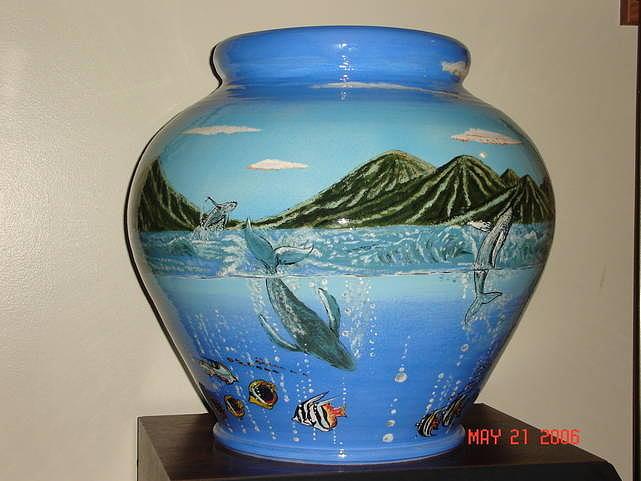 Whales Ceramic Art - Whales by Luis Jaime