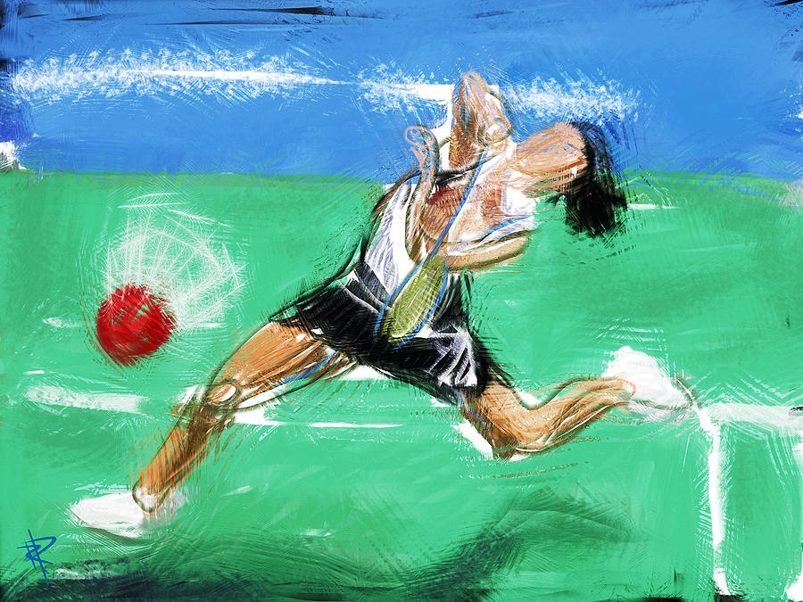 Badminton Mixed Media - What A Racket by Russell Pierce