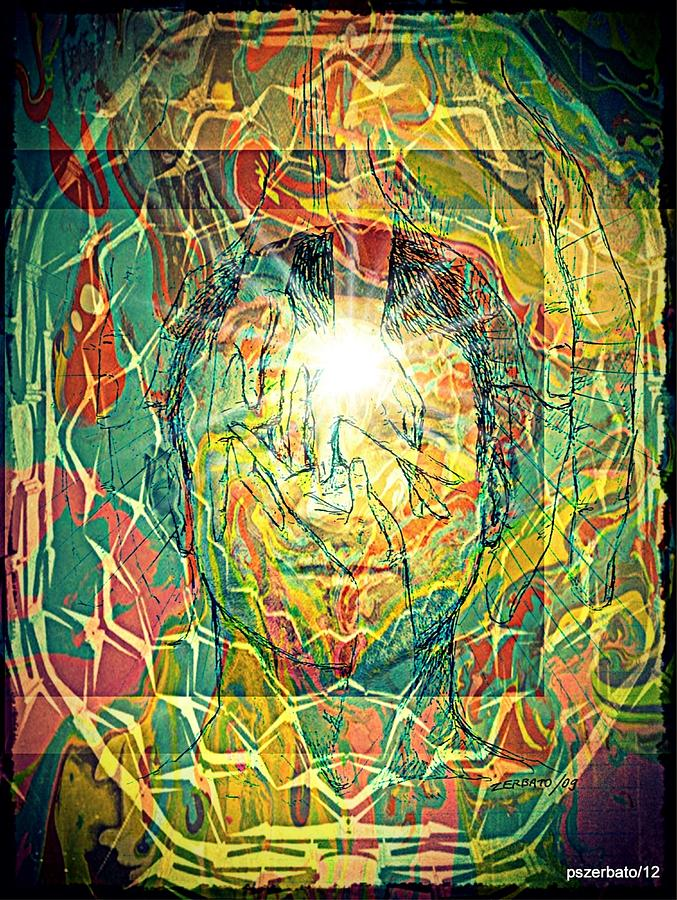 Life Digital Art - What Really Matters Is The Light That Shines In Us by Paulo Zerbato