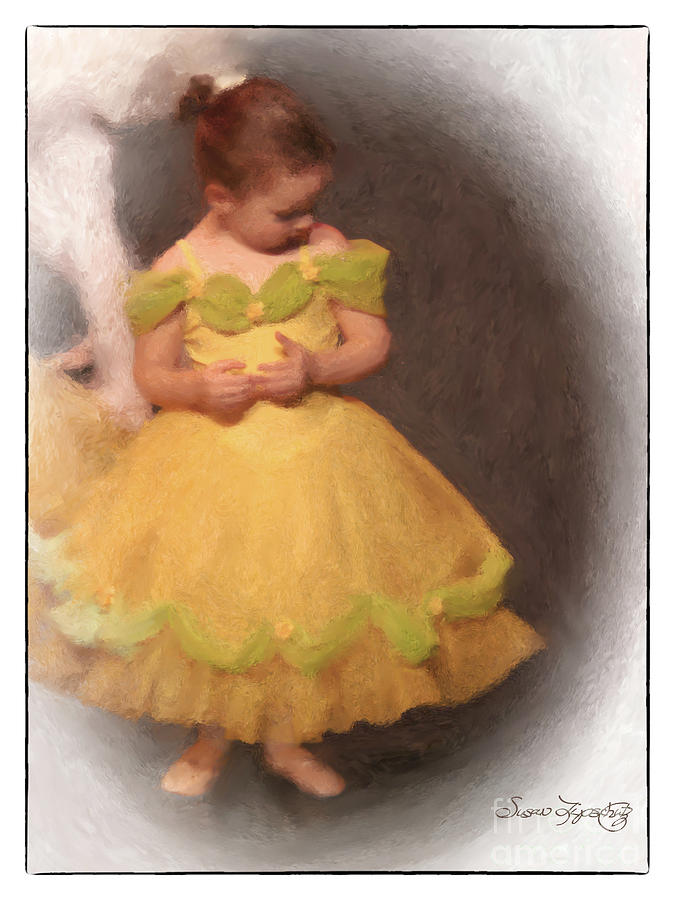 Ballet Digital Art - What Shall I Do Now by Susan  Lipschutz